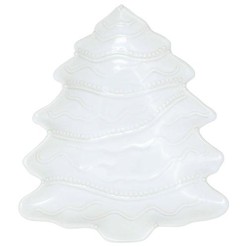Incanto Stone Winterland White Tree Large Serving Bowl