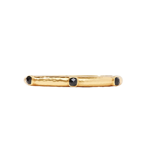 Catalina Hinge Bangle - Obsidian Black