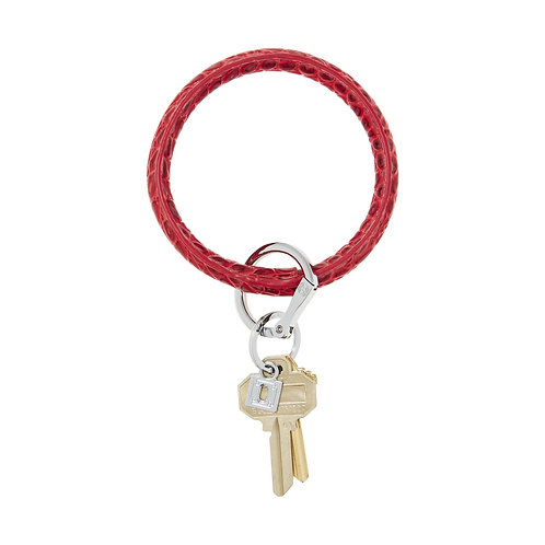 Big O Key Ring - Cherry on Top Croc - Leather