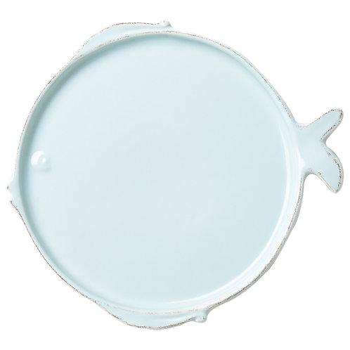 Melamine Lastra Fish Aqua Round Platter