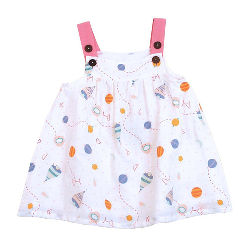 Dress and Bloomer Set - Space Dream - Natural