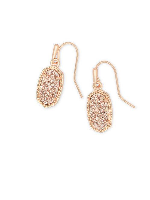 LEE EARRING RSG SAND DRUSY