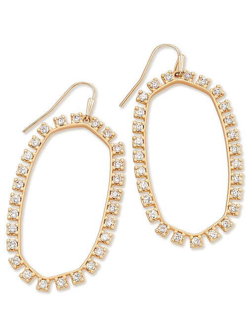 DANIELLE OPEN FRAME EARRING ROSE GOLD
