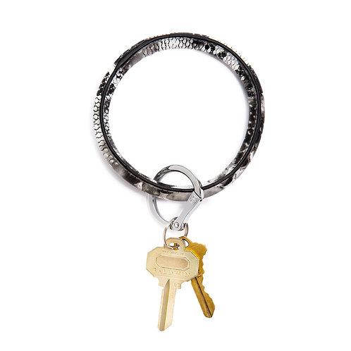 Big O Key Ring - Tuxedo Snakeskin - Leather