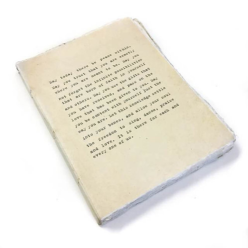 May Today There Be Peace - Deckle Edge Notebook
