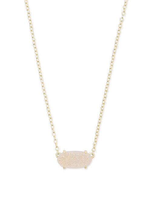 EVER NECKLACE GOLD IRIDSCNT DRUSY