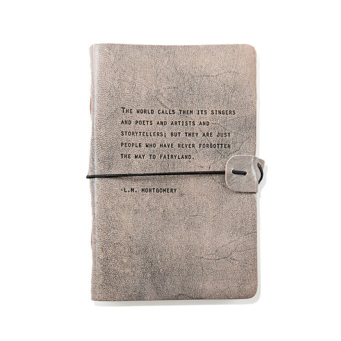 The World Calls Them - Grey Leather Journal