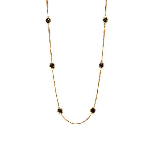 Calypso Station Necklace - Obsidian Black