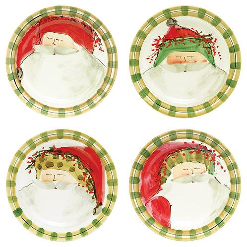 Old St. Nick Assorted Dinner Plates - Set of 4