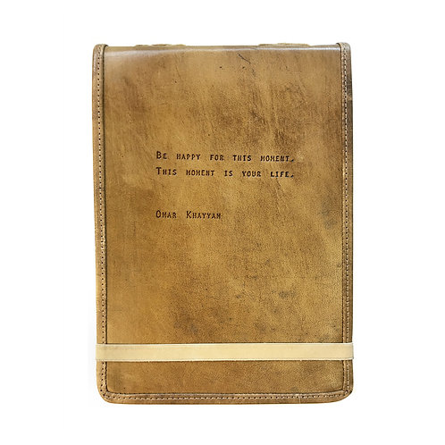 Be Happy - Leather Journal