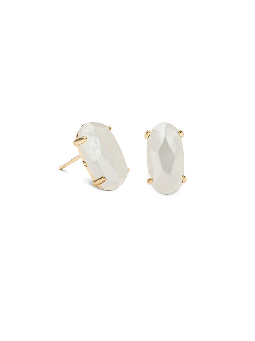 BETTY EARRING GOLD IVORY MOP