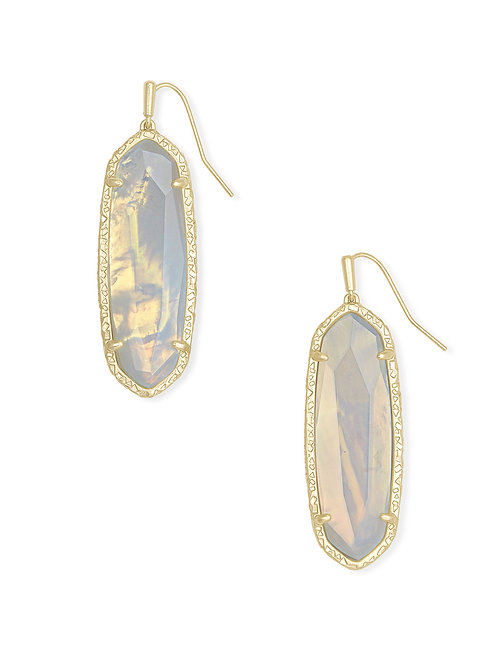 Layla Gold Drop Earring - Opalite Illusion