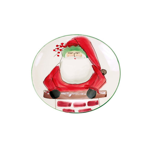 Old St. Nick Cookie Plate w/ Chimney