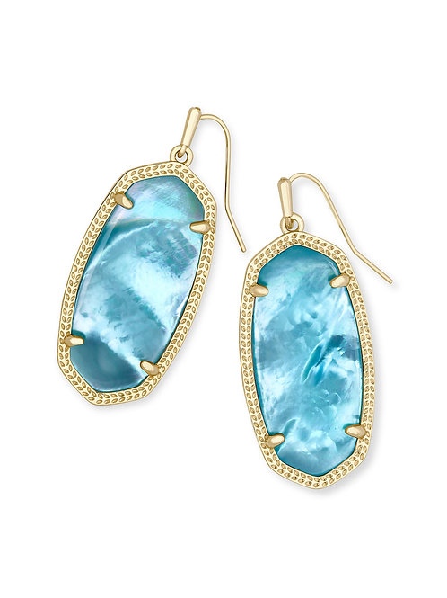 ELLE EARRING GOLD AQUA ILLUSION