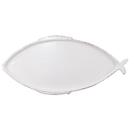Melamine Lastra Fish White Oval Platter