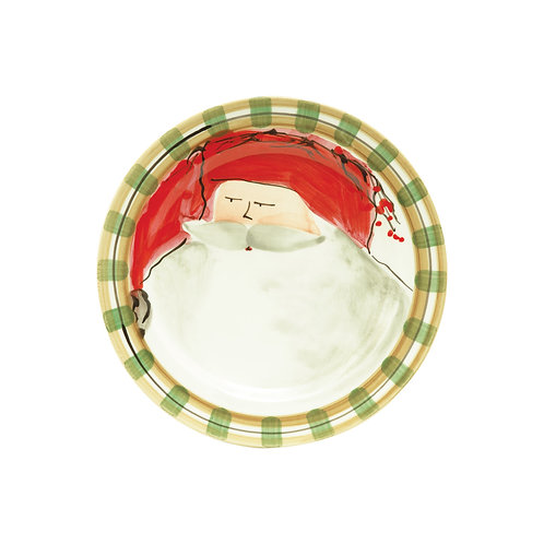 Old St. Nick Assorted Round Salad Plate - Red Hat