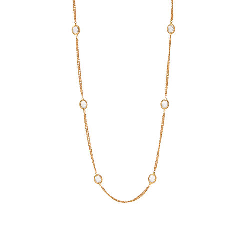 Calypso Station Necklace - Crystal Clear