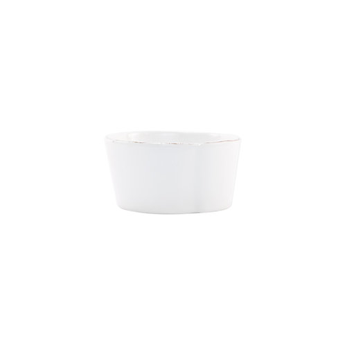 Melamine Lastra White Condiment Bowl