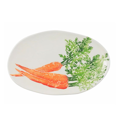 Spring Vegetables Small Oval Platter
