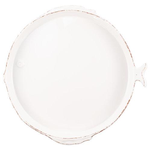 Melamine Lastra Fish White Round Platter
