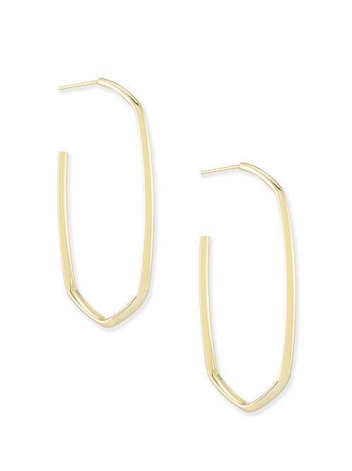 DANIELLE HOOP EARRING GOLD METAL