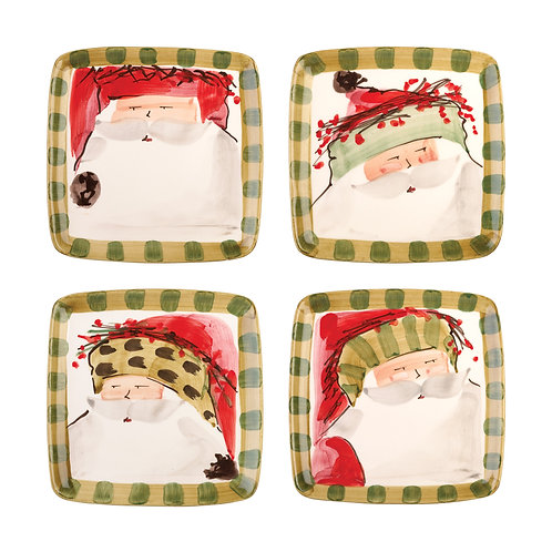 Old St. Nick Assorted Square Salad Plate - Set of 4