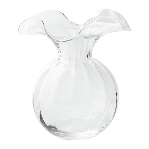 Hibiscus Medium Fluted Vase - Clear
