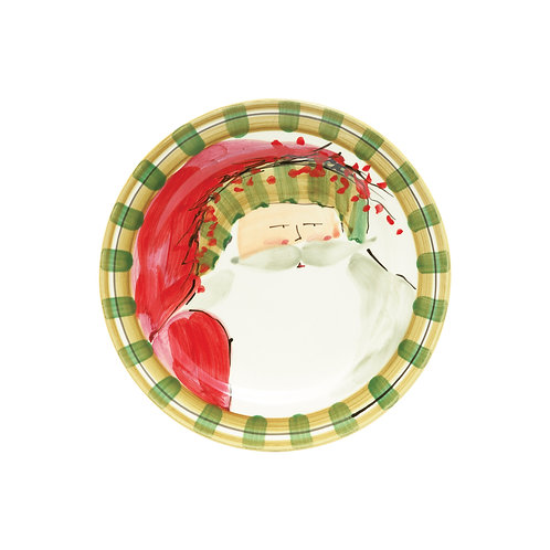 Old St. Nick Assorted Round Salad Plate - Striped Hat