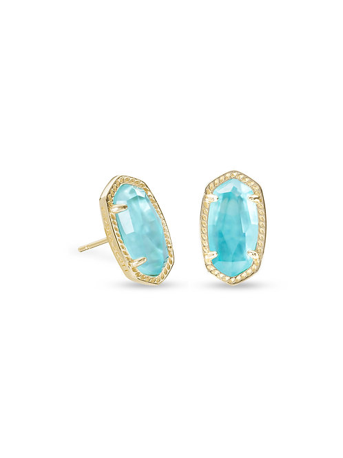 ELLIE EARRING GOLD AQUA ILLUSION