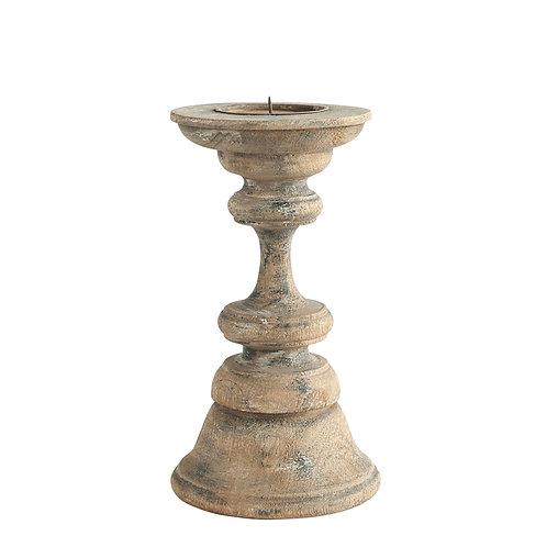 Reclaimed Wood Pillar Candleholder - Small