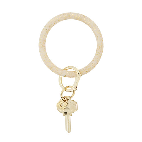 Big O Key Ring - Gold Confetti - Silicone