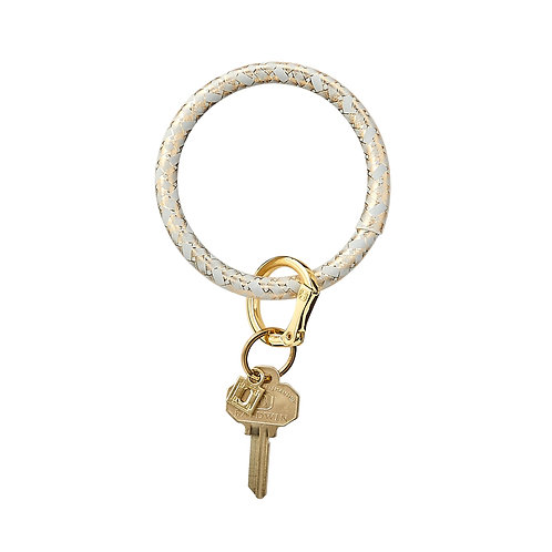 Big O Key Ring - Gold Rush Basketweave - Leather