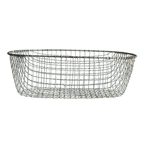 Large Oval Wire Basket