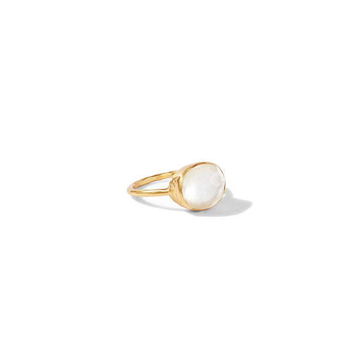 Honey Stacking Ring - Iridescent Clear Crystal