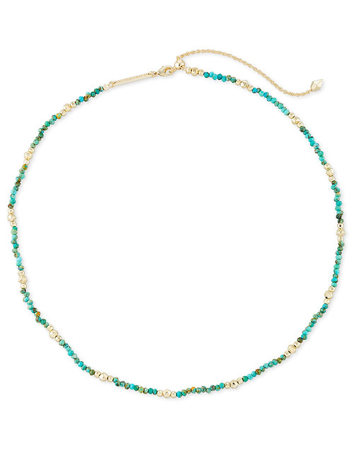 Scarlet Gold Collar Necklace - Turquoise