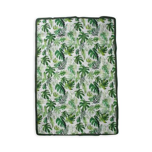 Little Unicorn - 5x7 Outdoor Blanket - Tropical Leaf