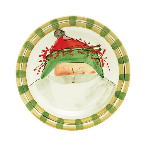 Old St. Nick Dinner Plate - Green Hat