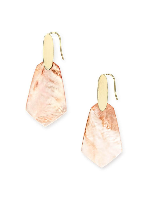CAMILA EARRING GOLD  PEACH MOP