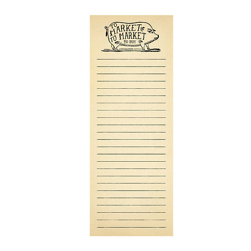 To Market - Skinny Notepad