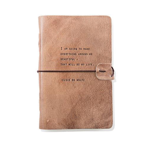 Everything Beautiful - Blush Leather Journal