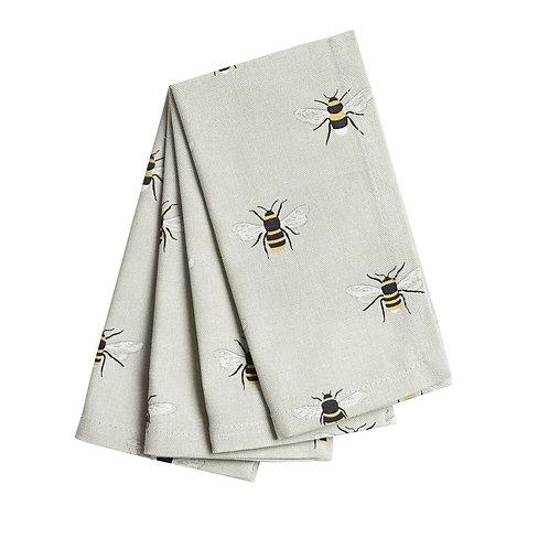 Set of 4 Napkins - Bees