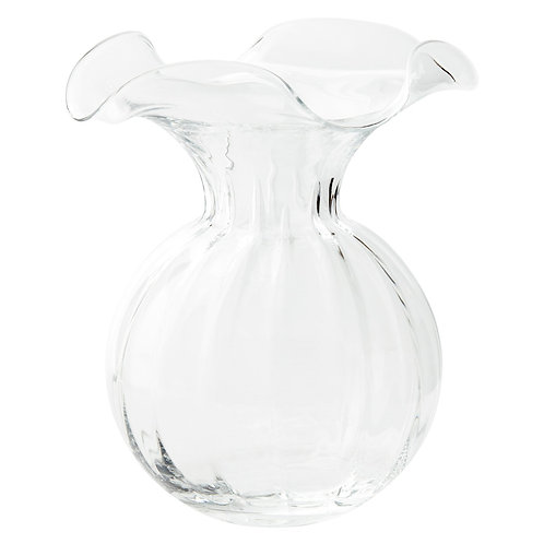 Hibiscus Large Fluted Vase - Clear