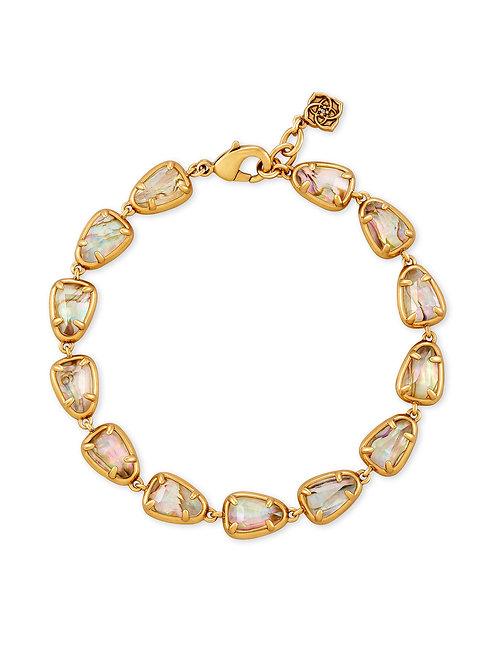 Susanna Vintage Gold Bracelet - White Abalone