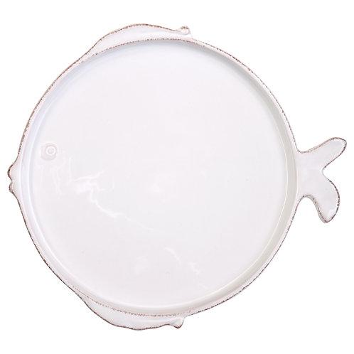 Melamine Lastra Fish White Dinner Plate