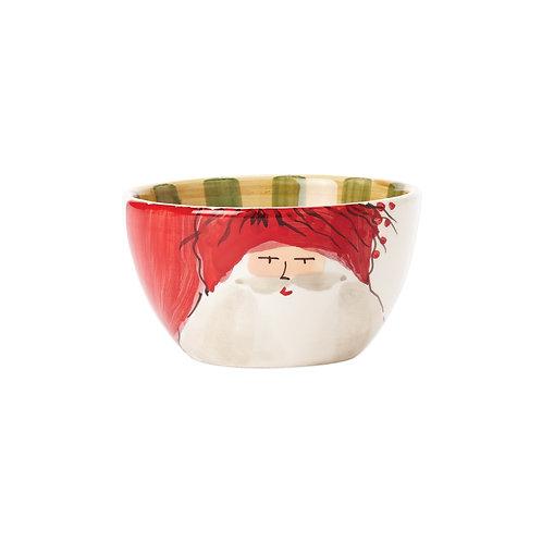 Old St. Nick Cereal Bowl - Red Hat