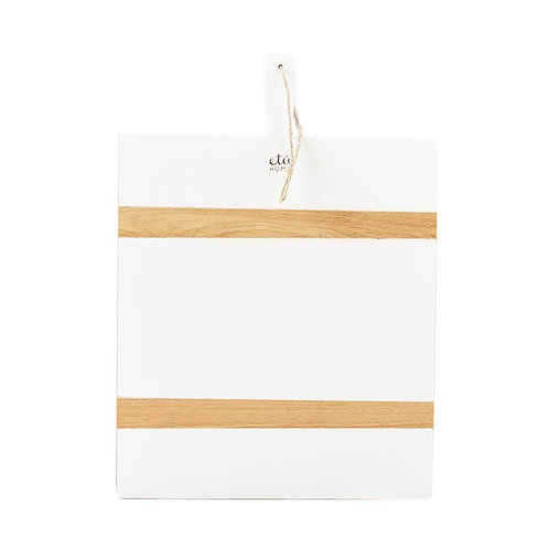 White Rectangle Mod Charcuterie Board - Medium
