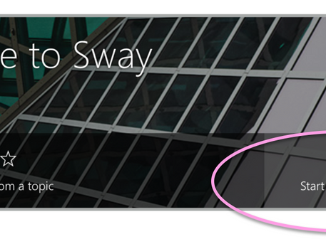 Office 365 Tip of the Week | Quick start your Sway