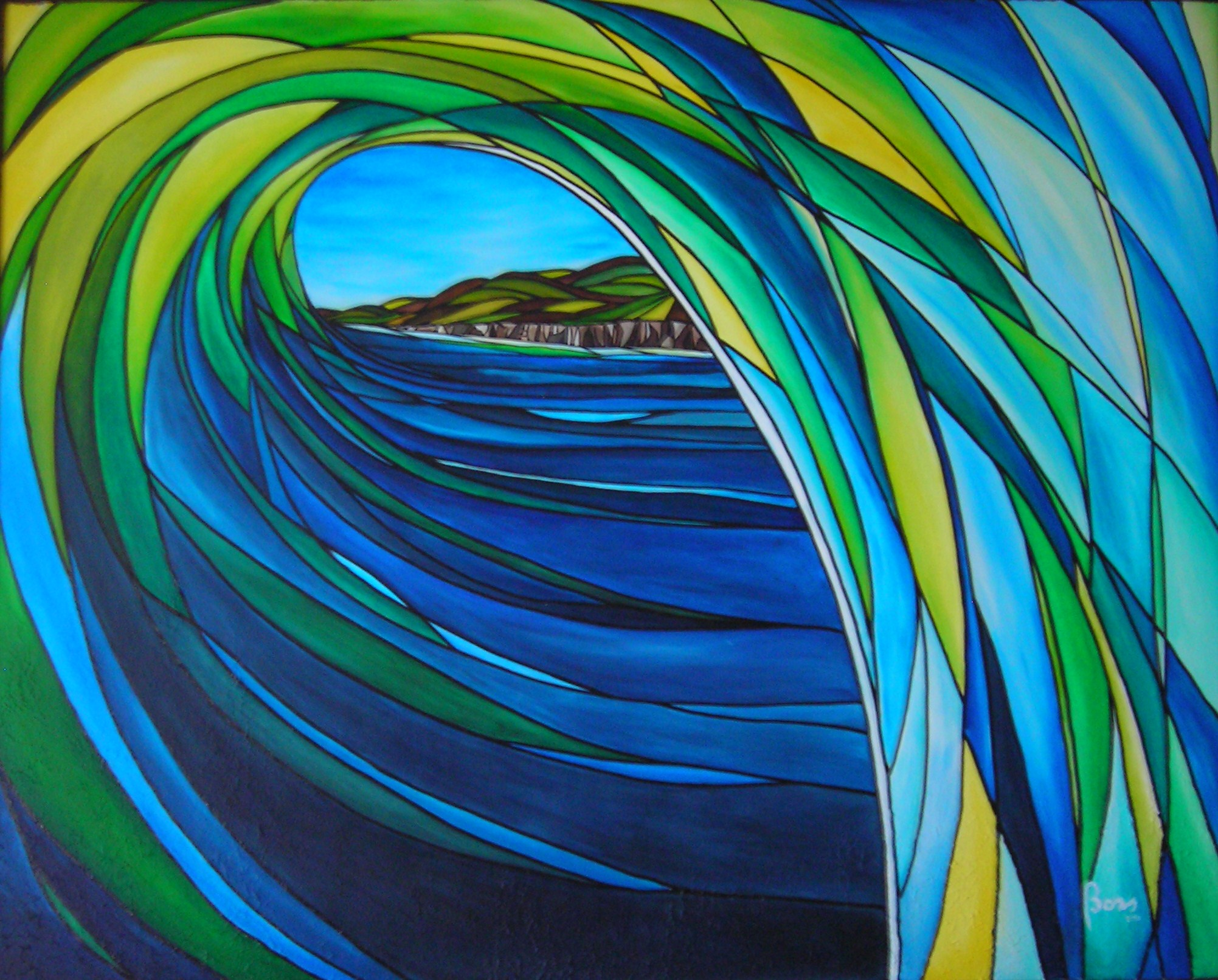 Stained Glass Wave