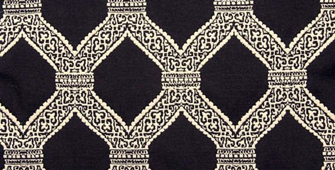 Black and White - Lattice Work - Matelasse