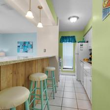 Kitchen view - breakfast bar seating